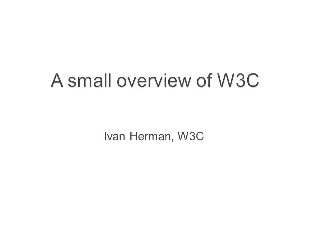 Ivan Herman, W3C