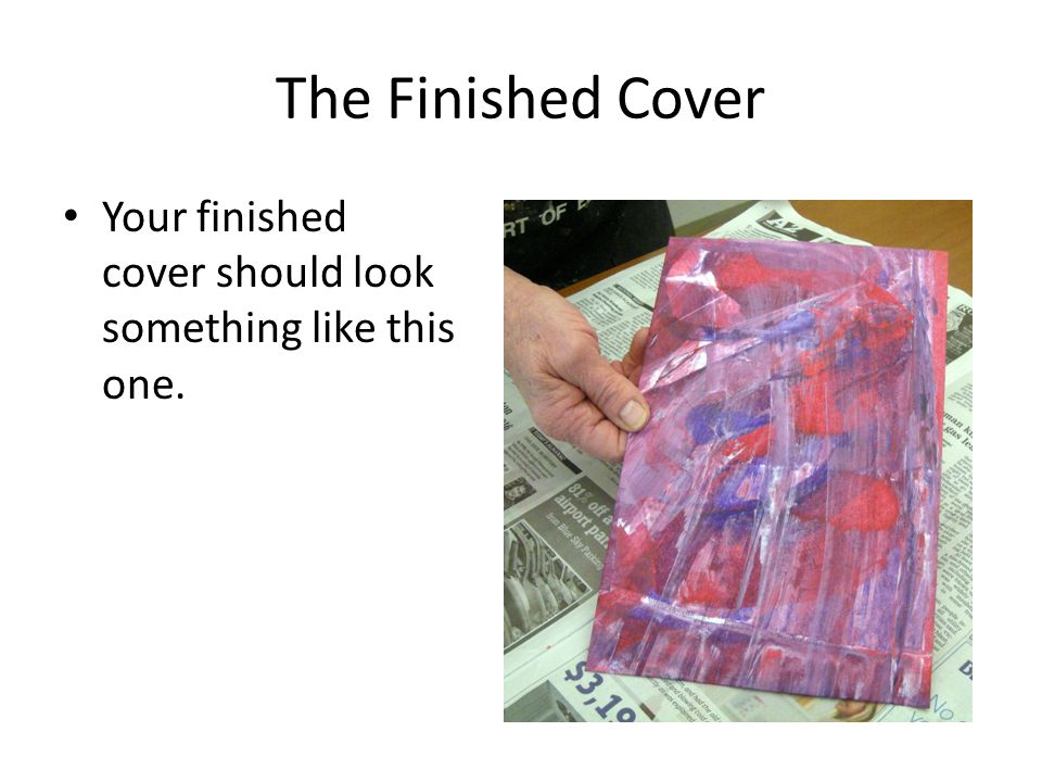The Finished Cover Your finished cover should look something like this one.