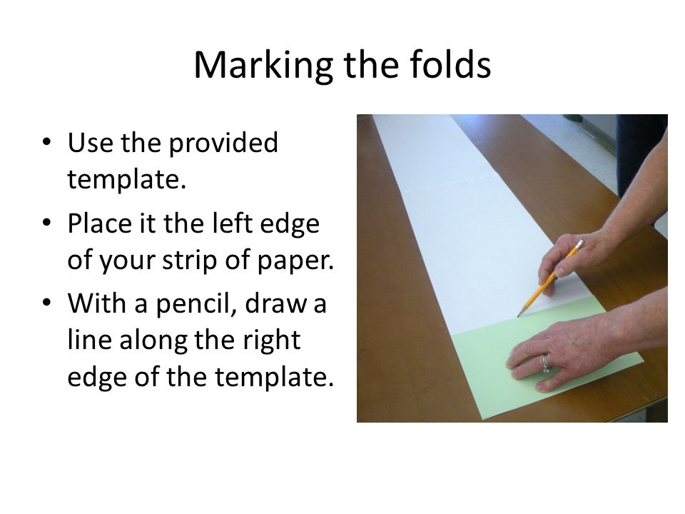 Continue Marking Move the template to line up with the line you just drew.