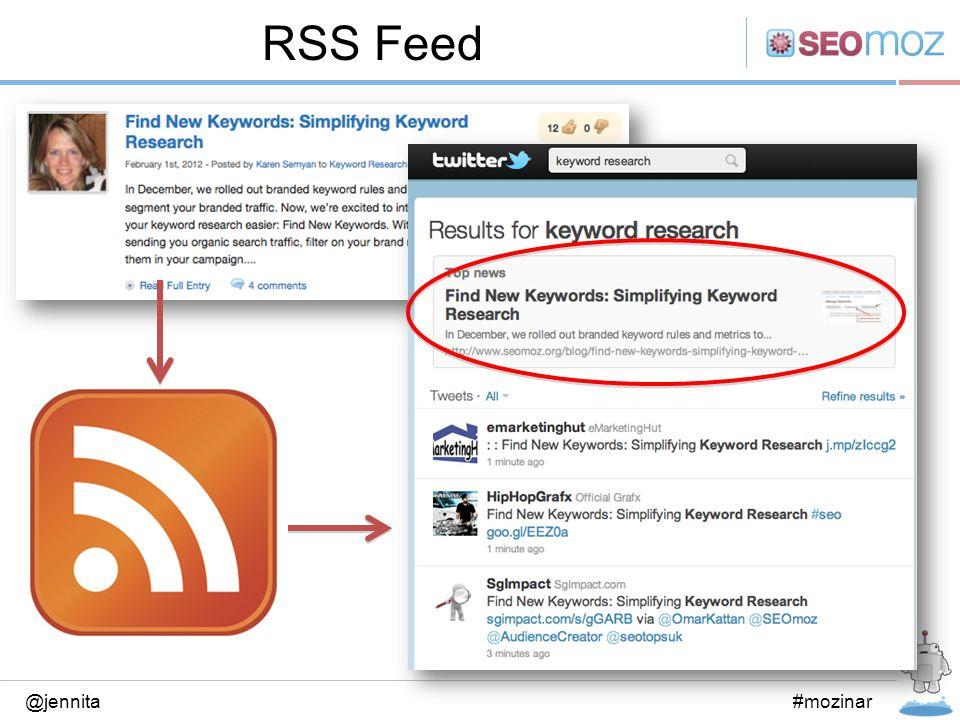 RSS Feed @jennita#mozinar