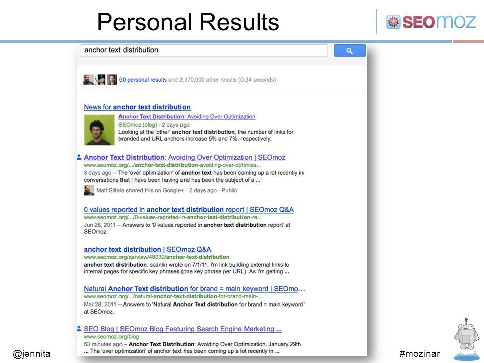 Personal Results @jennita#mozinar