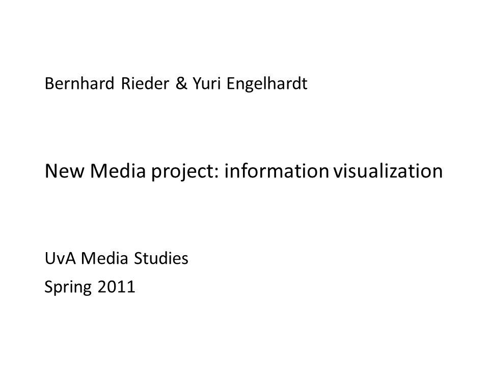 Title Bernhard Rieder & Yuri Engelhardt New Media project: information visualization UvA Media Studies Spring 2011