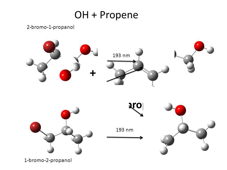 OH + Propene + OH propene 193 nm 2-bromo-1-propanol 1-bromo-2-propanol