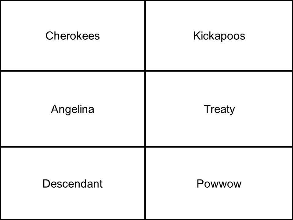 CherokeesKickapoos AngelinaTreaty DescendantPowwow