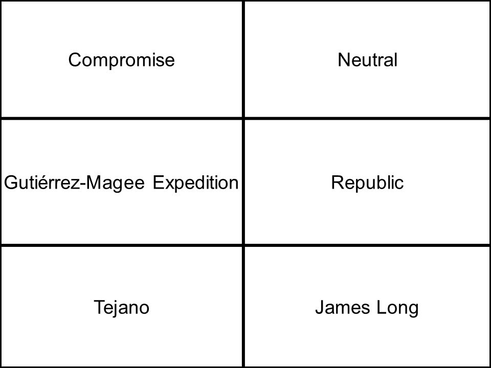CompromiseNeutral Gutiérrez-Magee ExpeditionRepublic TejanoJames Long