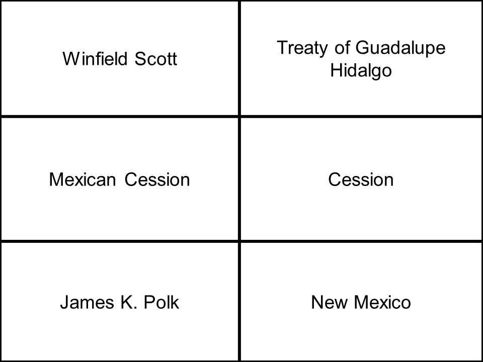 Winfield Scott Treaty of Guadalupe Hidalgo Mexican CessionCession James K. PolkNew Mexico