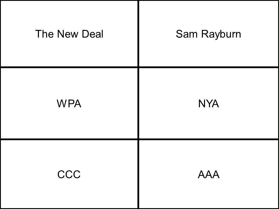 The New DealSam Rayburn WPANYA CCCAAA