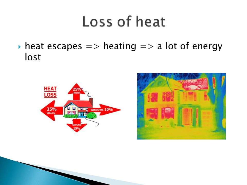 heat escapes => heating => a lot of energy lost