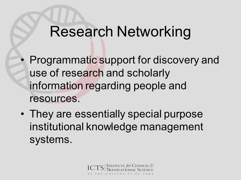 Looking Beyond Research Networking