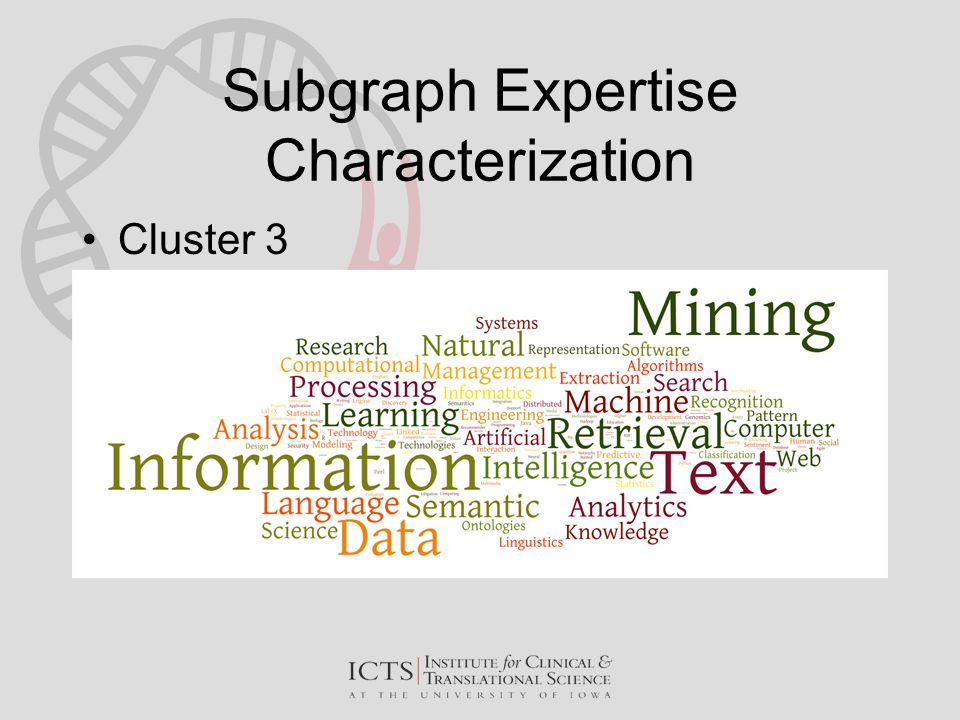Subgraph Expertise Characterization Cluster 3