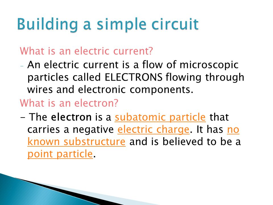 What is an electric current.
