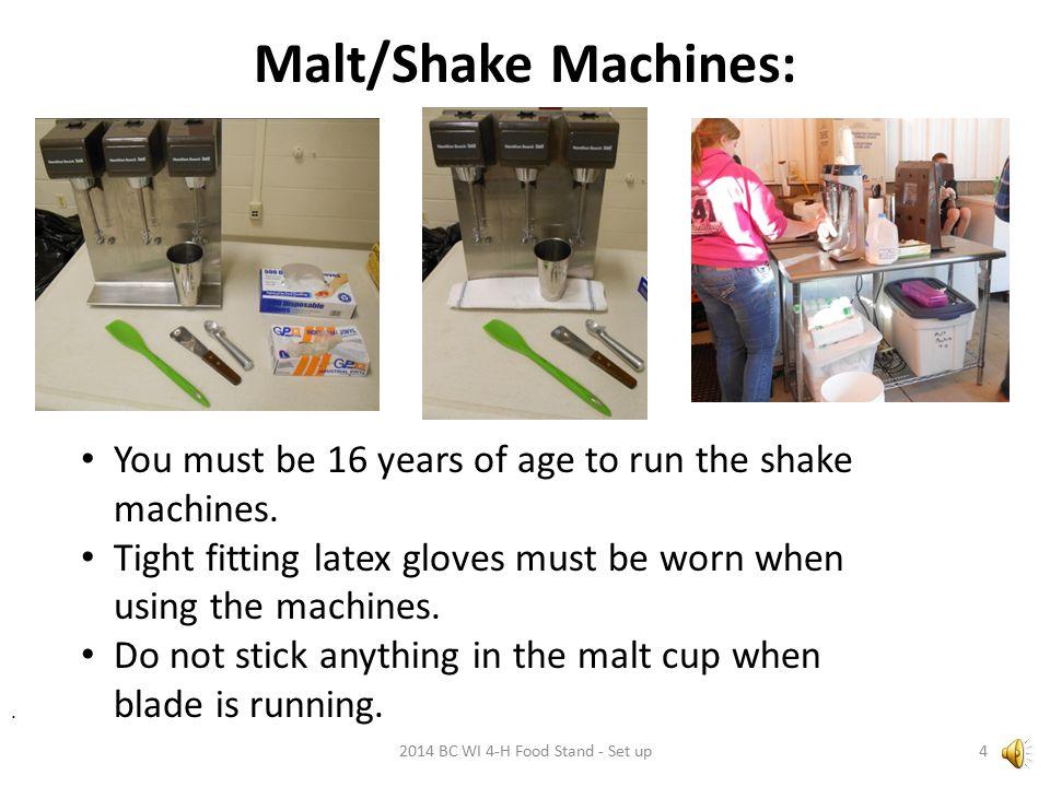 Malt/Shake Machines: 2014 BC WI 4-H Food Stand - Set up4.