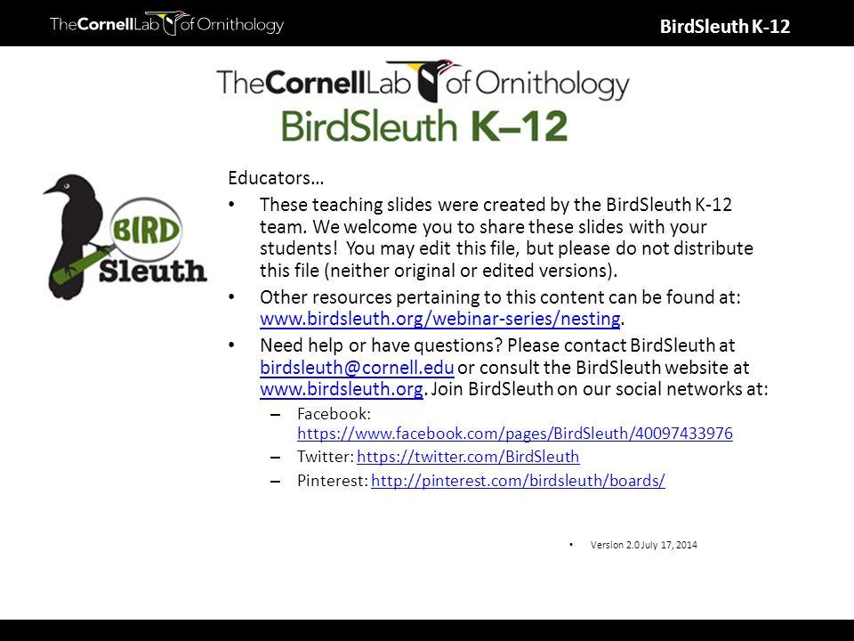 BirdSleuth K-12 Altricial vs.