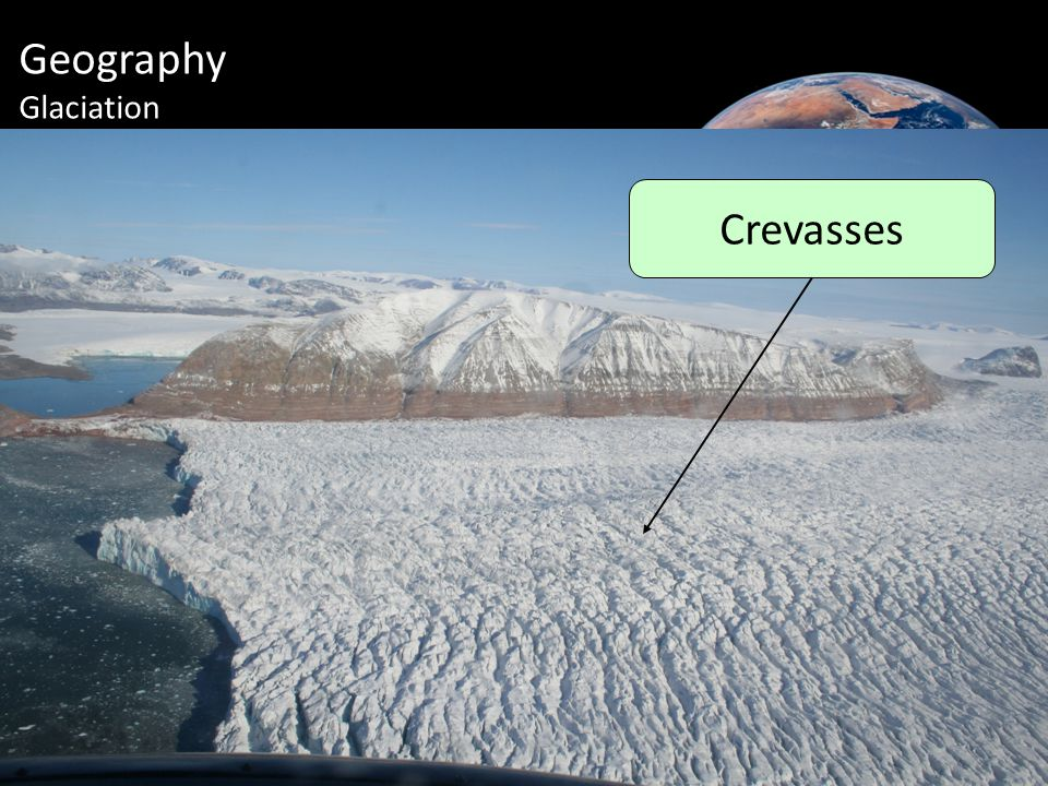 Geography Glaciation Crevasses