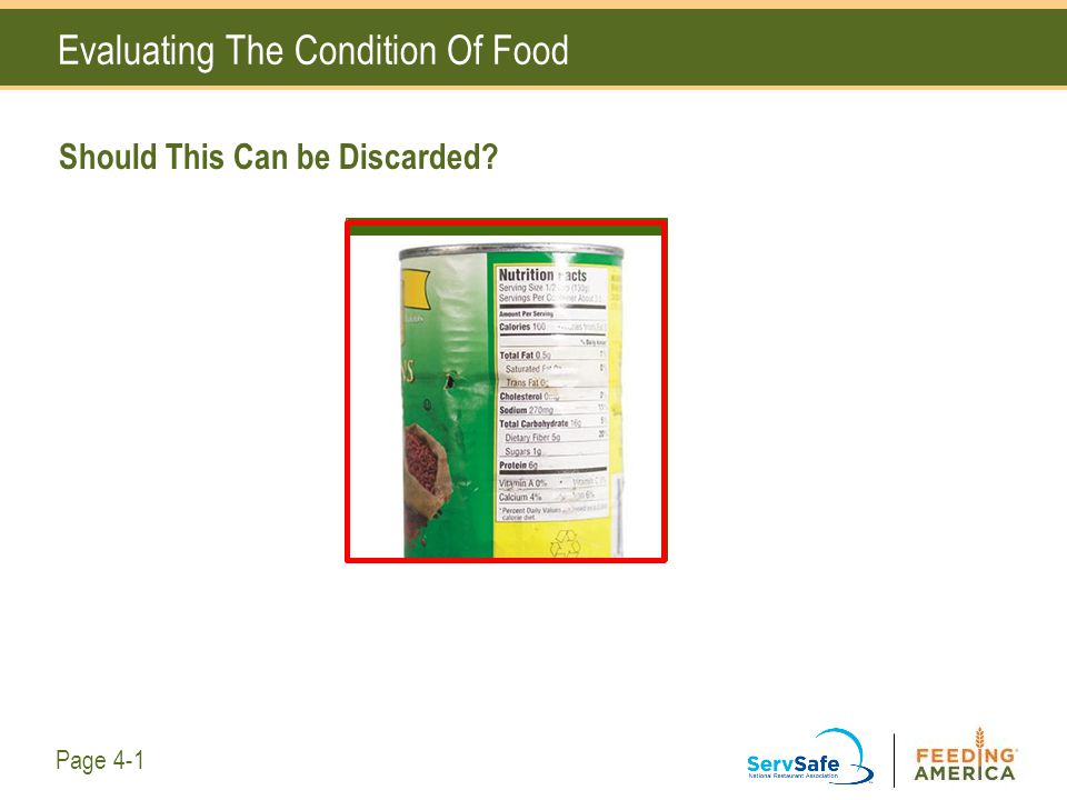 Evaluating The Condition Of Food Should This Can be Discarded? Page 4-1