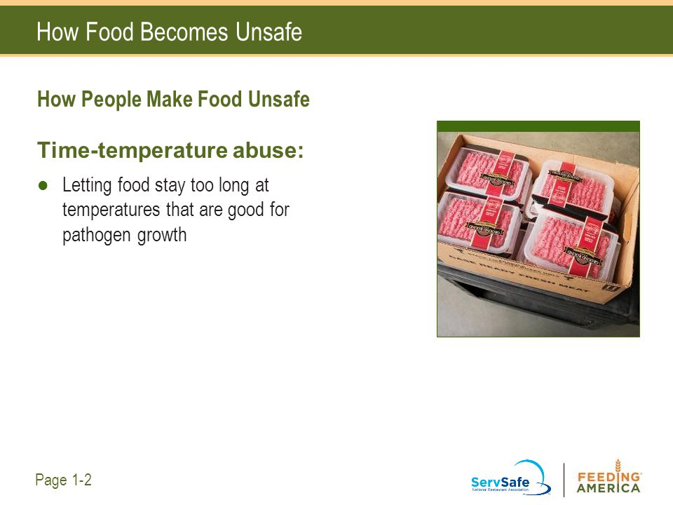 Your Role in Keeping Food Safe How Is Cross-Contamination Being Prevented in the Photo.