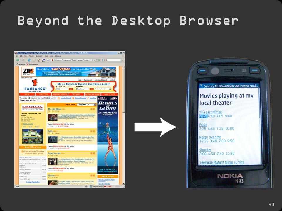 30 Beyond the Desktop Browser