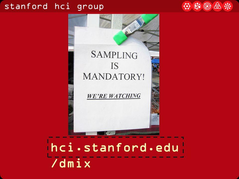 stanford hci group hci.stanford.edu /dmix