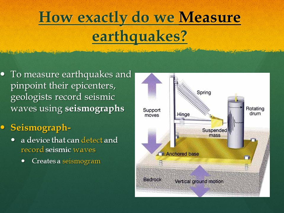 How exactly do we Measure earthquakes.