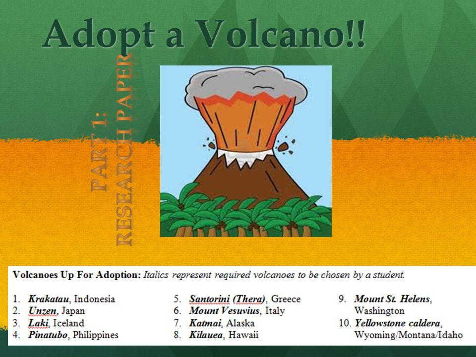 Adopt a Volcano!!