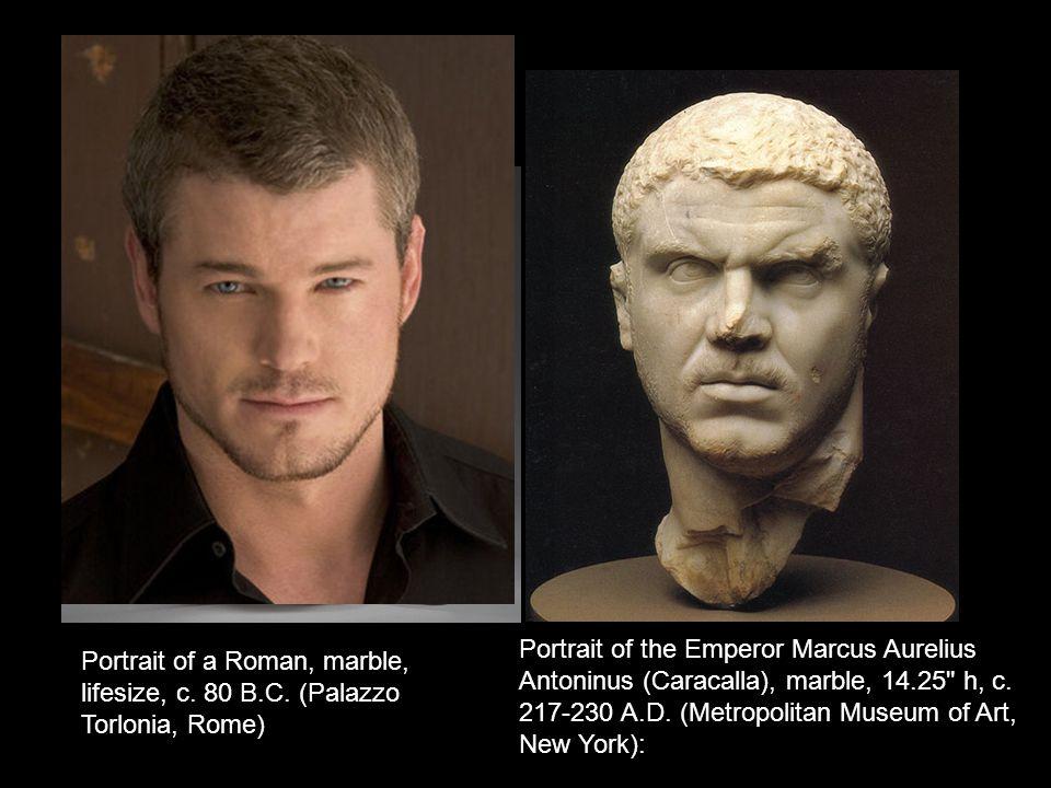 Portrait of the Emperor Marcus Aurelius Antoninus (Caracalla), marble, 14.25 h, c.