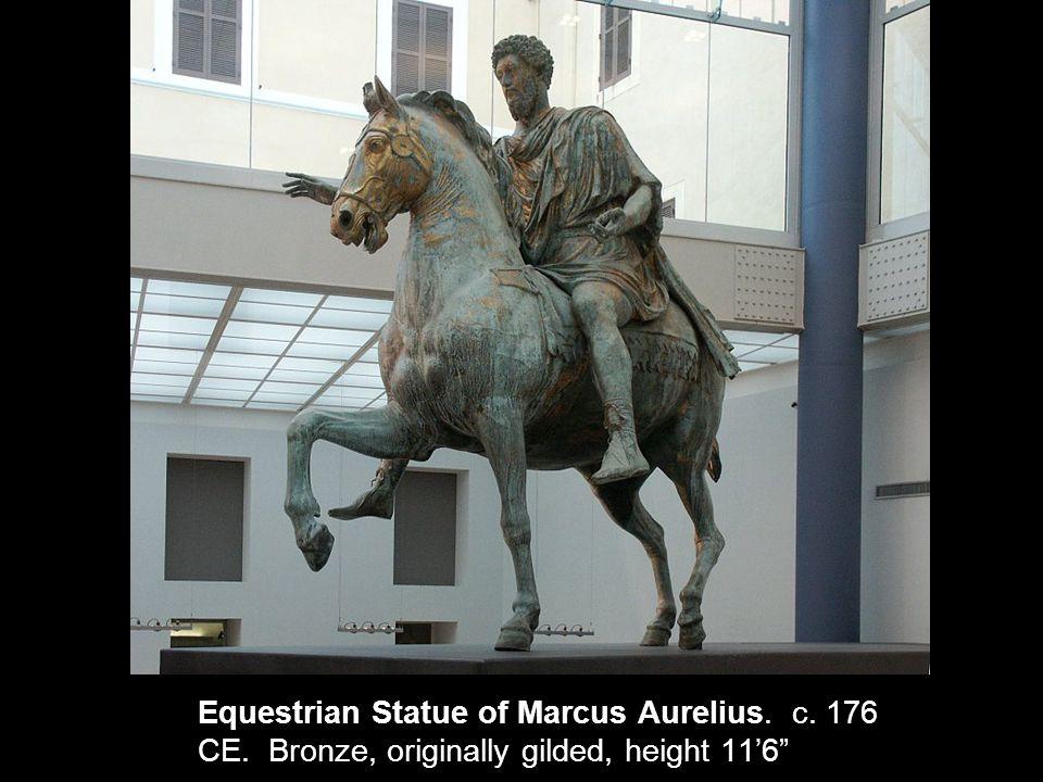 Equestrian Statue of Marcus Aurelius. c. 176 CE. Bronze, originally gilded, height 11'6