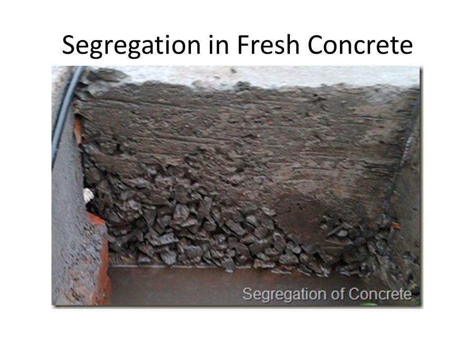 Segregation in Fresh Concrete