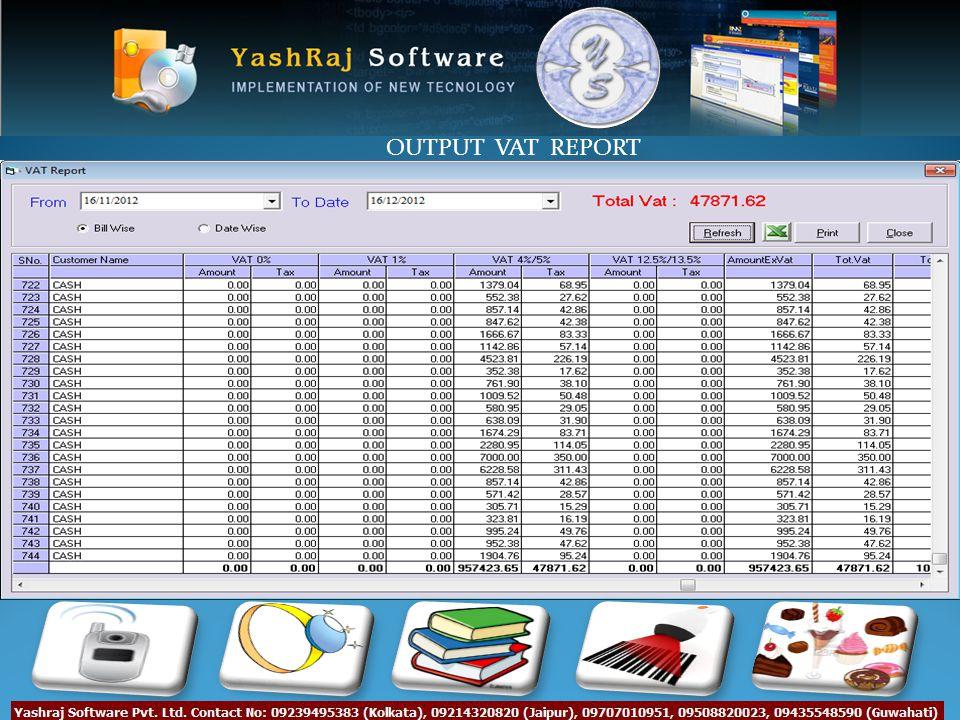 OUTPUT VAT REPORT