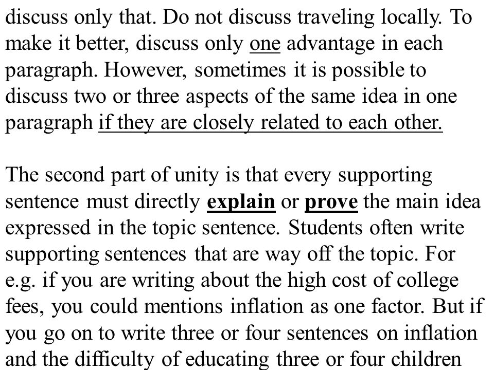 Practice 1: Here is a topic sentence.Look at its key terms.