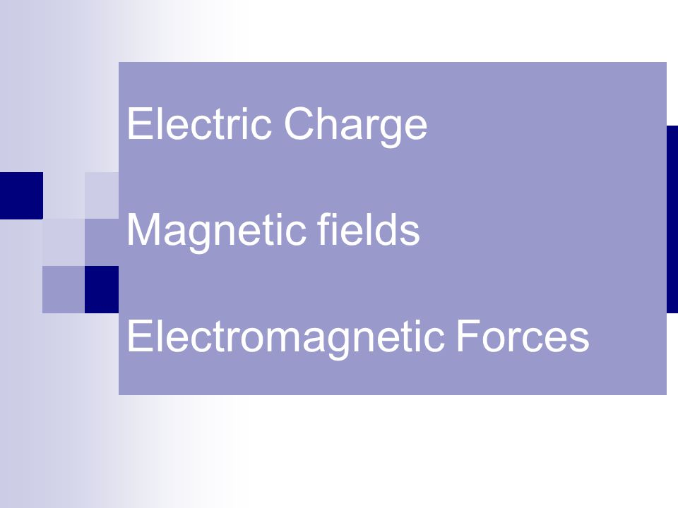 Electric Charge Magnetic fields Electromagnetic Forces