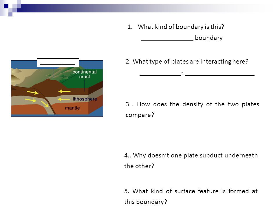 1.What kind of boundary is this. _______________ boundary 2.
