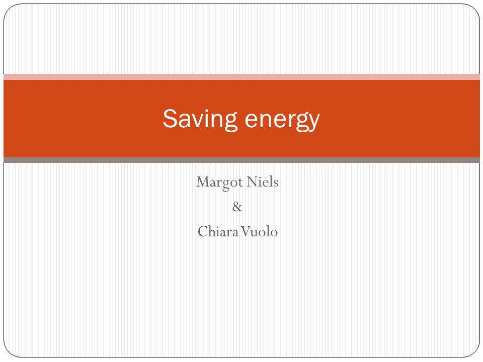 Margot Niels & Chiara Vuolo Saving energy