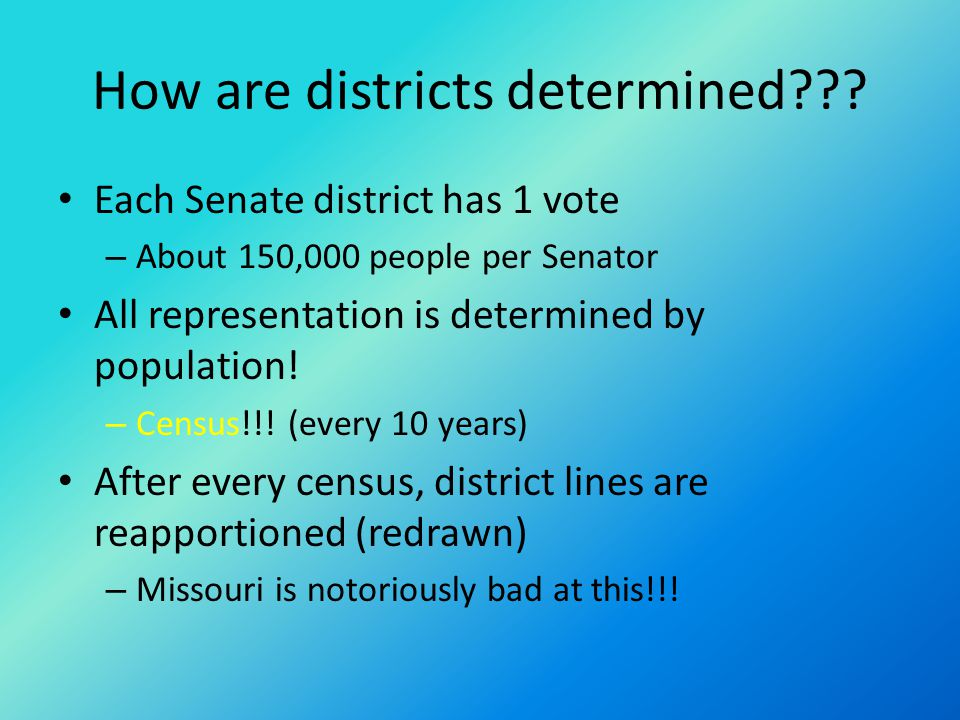 How are districts determined??.