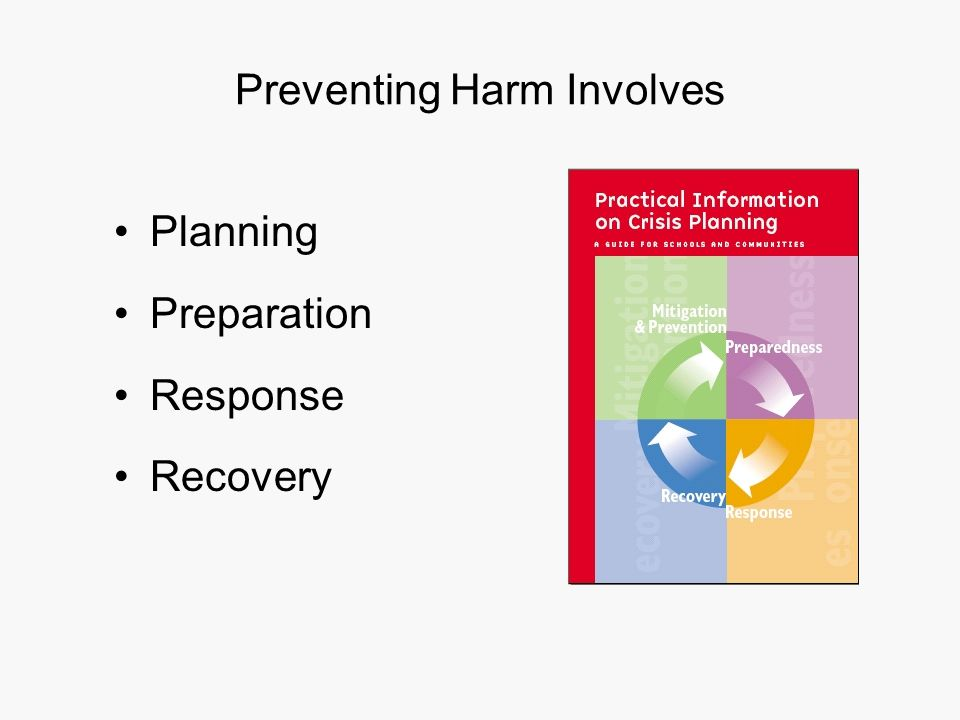 Preventing Harm Involves Planning Preparation Response Recovery