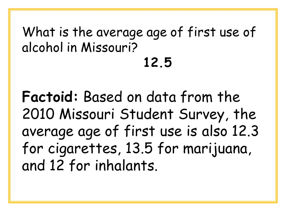 Which substance has shown an increase in use in Missouri? Marijuana Inhalants Meth Tobacco