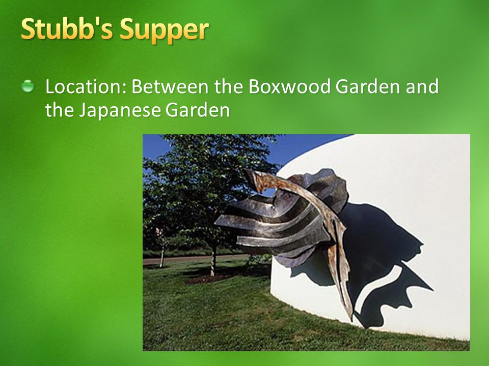 Location: Between the Boxwood Garden and the Japanese Garden