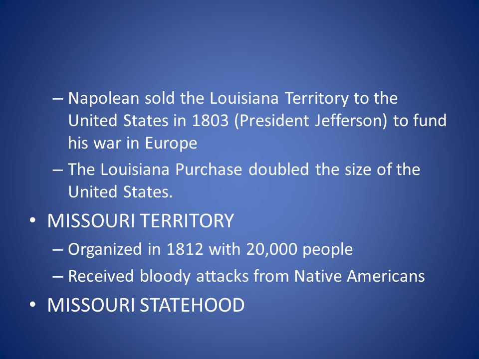 – Mississippi forms our eastern boundary TERMS TO KNOW – Double jeopardy: a person cannot be tried for the same single crime twice if found innocent the first time no matter what evidence is found later – Ex Post Facto: a person cannot be arrested for something they did before that act became illegal – Right to Bear Arms: You have the right to own and use firearms (2 nd Amendment/US Constitution)