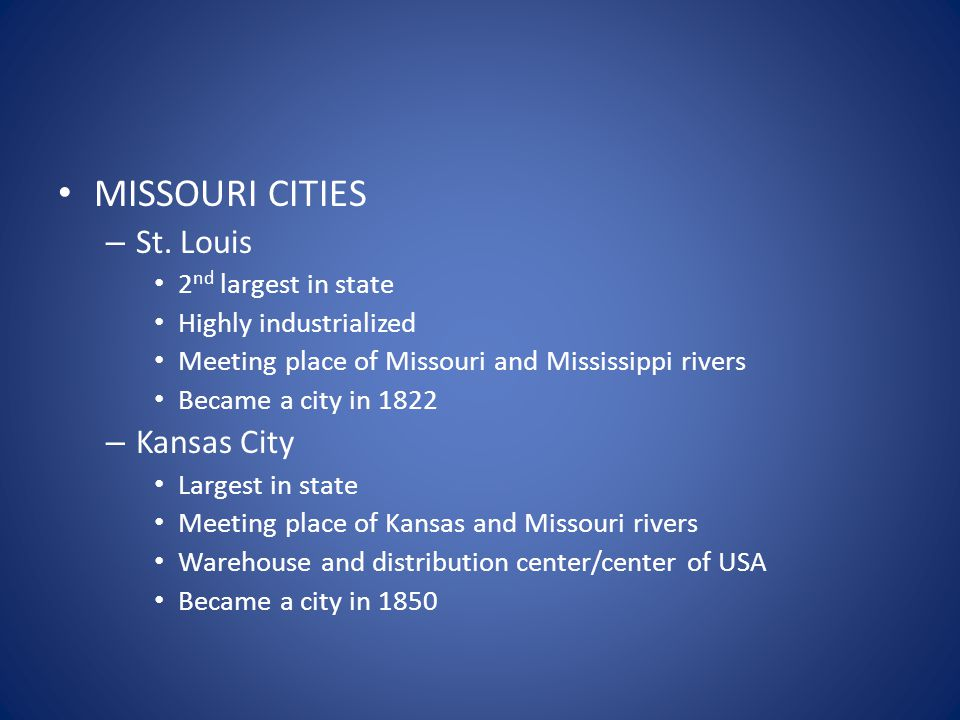 MISSOURI CITIES – St.