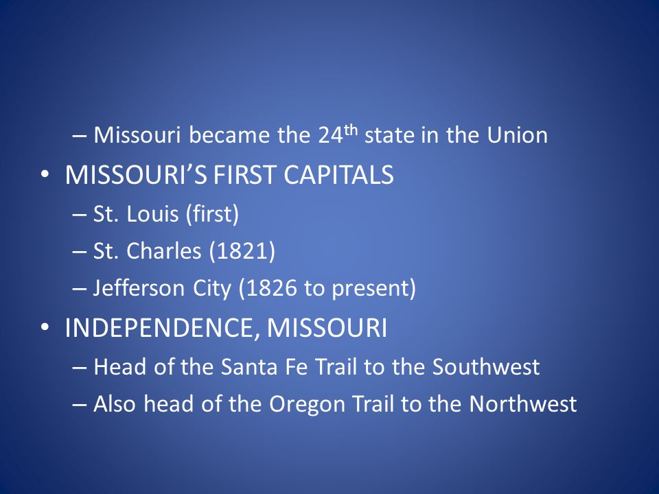 PRE-CIVIL WAR TENSIONS IN MISSOURI – Convention was held in 1861 (first year of war) – Voted to stay in the Union even though Missouri was a slave state.