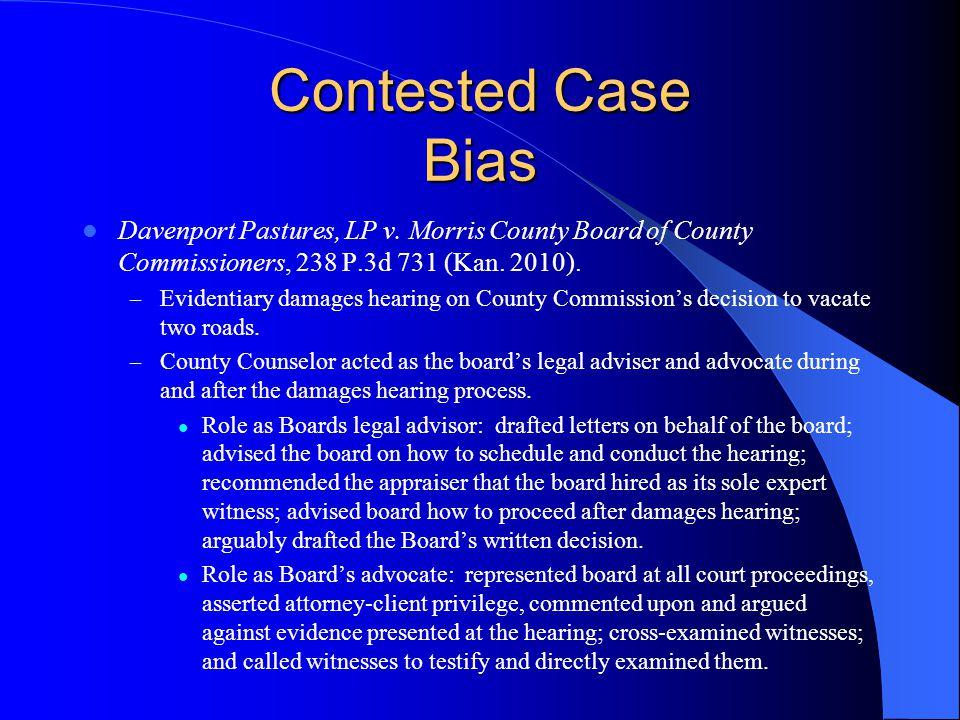 Contested Case Bias Davenport Pastures, LP v.