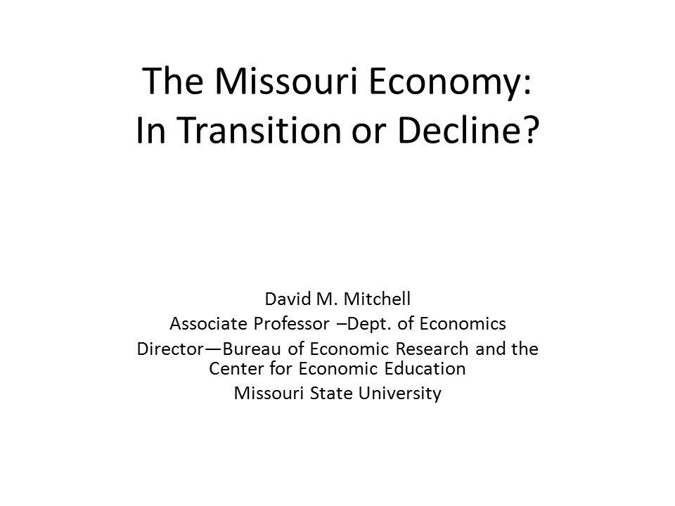 The Missouri Economy in Brief