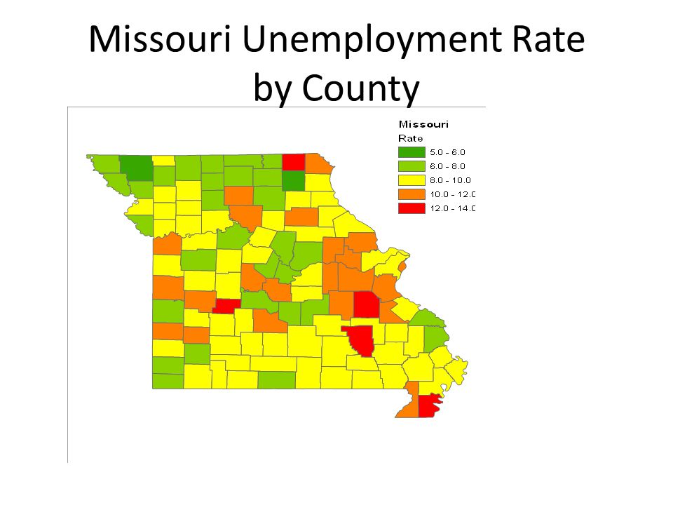 Missouri Unemployment Rate by County