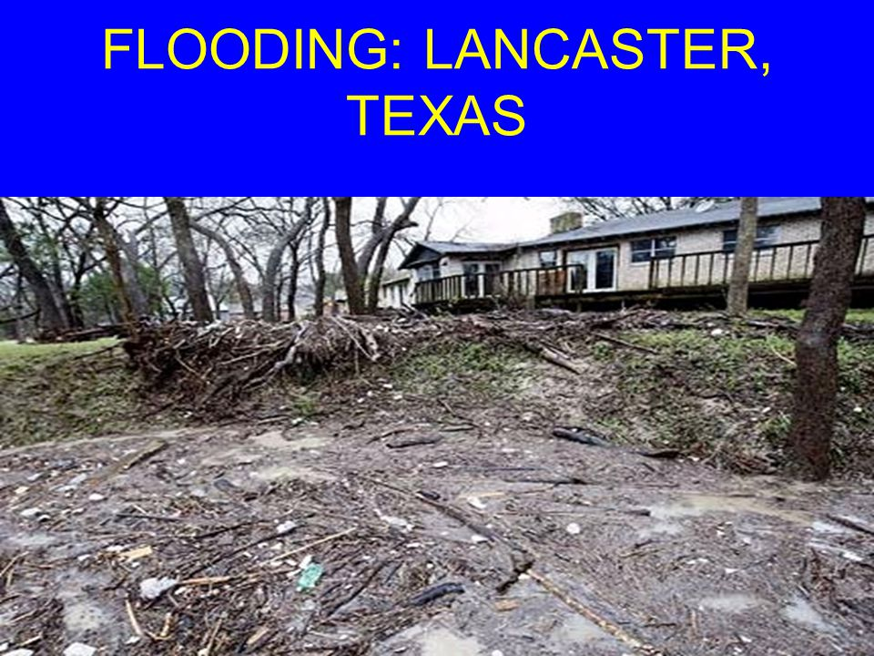 FLOODING: LANCASTER, TEXAS