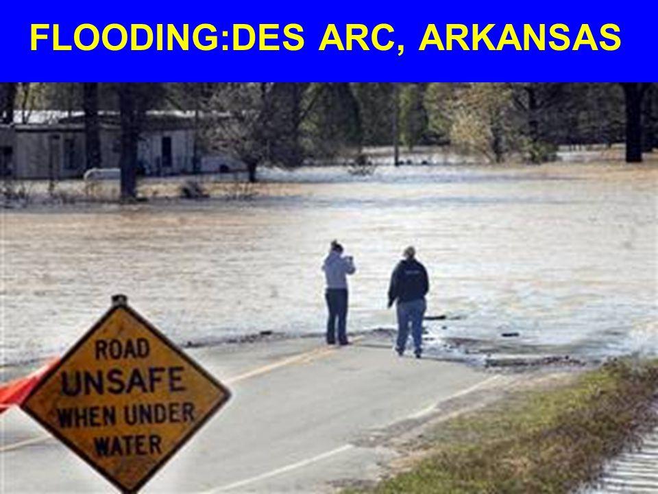 FLOODING:DES ARC, ARKANSAS