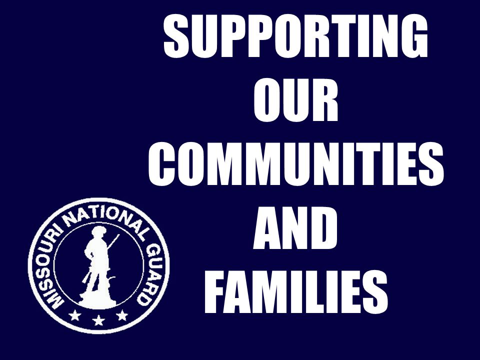 SUPPORTING OUR COMMUNITIES AND FAMILIES