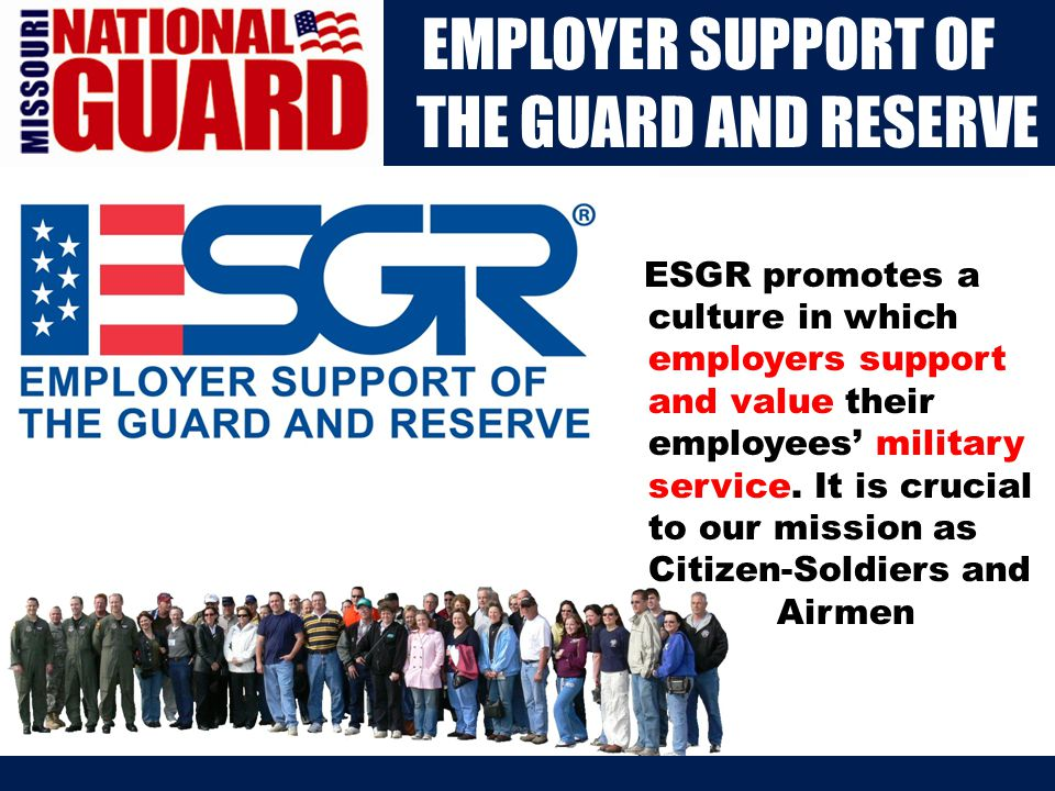 Our Mission The Family Program Office has a twofold mission – to improve the quality of life for Guard members and their Families, and to enhance service member readiness and retention.