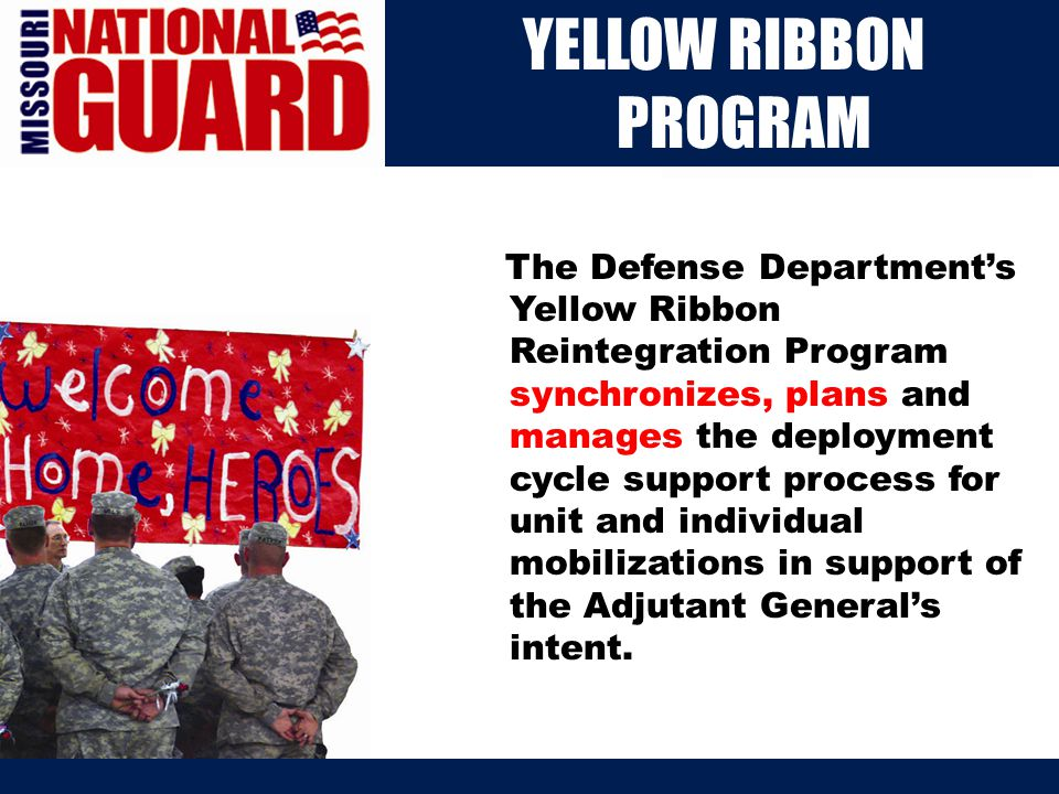 Our Mission The Missouri National Guard is a national leader in social networking.
