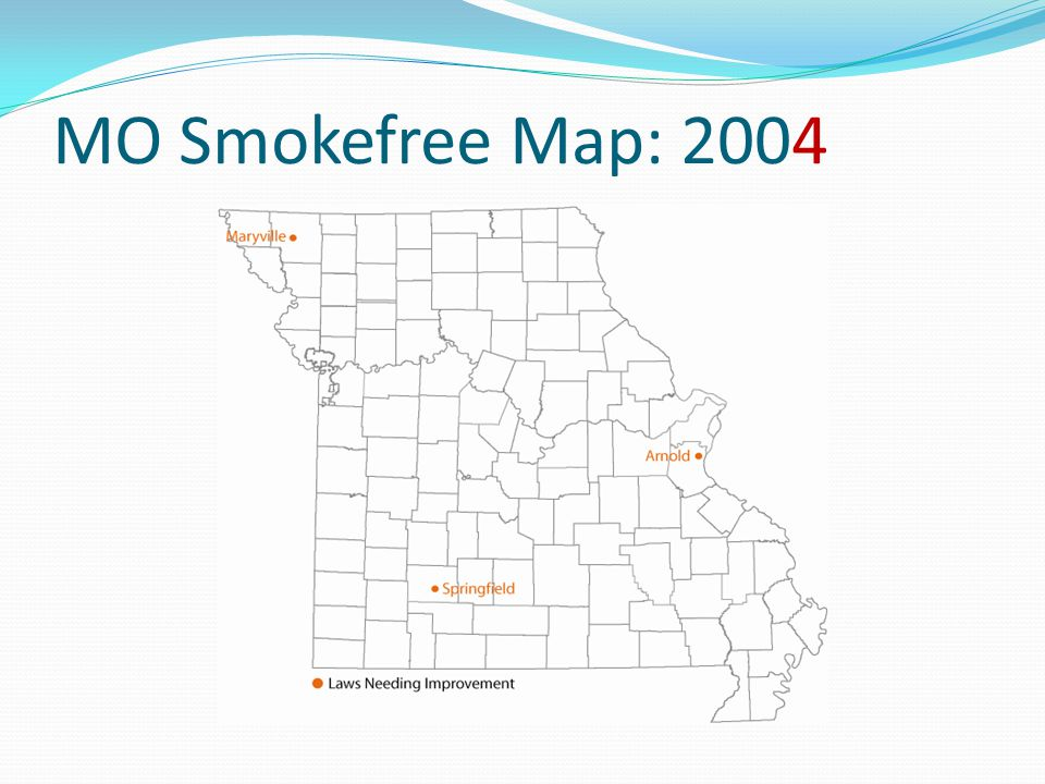 MO Smokefree Map: 2004