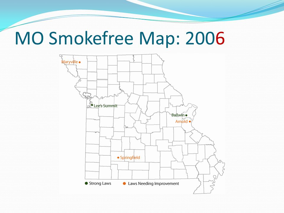 MO Smokefree Map: 2006