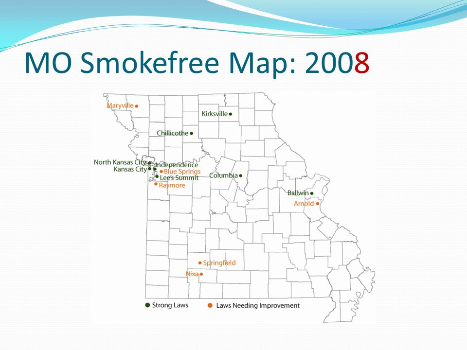 MO Smokefree Map: 2008